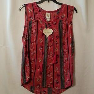 Self esteem sleeveless blouse sz 1x